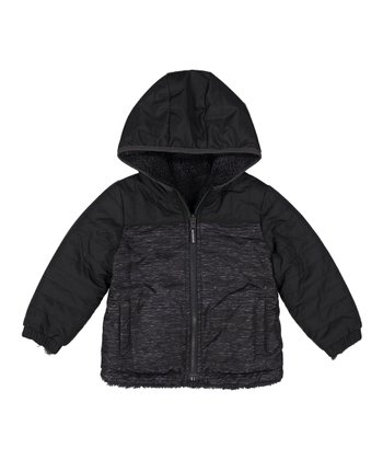 af91882122a Black Faux Sherpa Reversible Mid-Weight Jacket - Infant   Boys