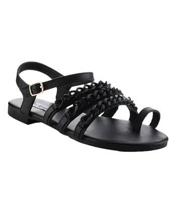 d1e1a5a40 Black Chain-Accent Cash Sandal - Women