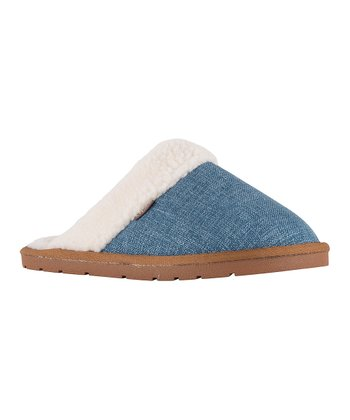 4af332063 Navy Aria Faux Fur Slipper - Women