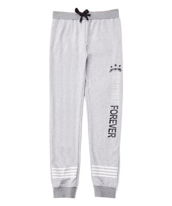 8cfa556774ca3 Gray Heather 'Girls Rule Forever' Joggers - Girls