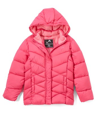 965921be6e1 Fuchsia Bubble Quilted Coat - Toddler