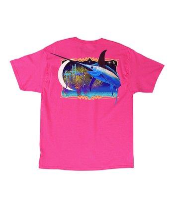 5bfccf98f132 Hot Pink Palmetto Swordfish Tee - Men