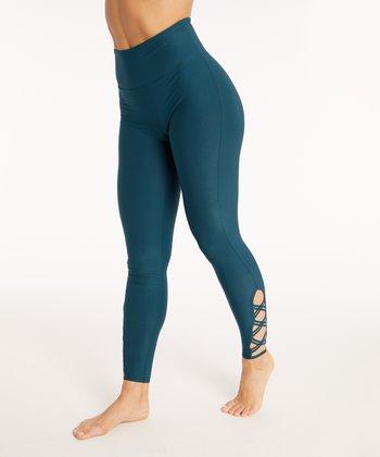 1867e5d6ba Reflecting Pond Tummy-Control Criss-Cross High-Waist Leggings - Women