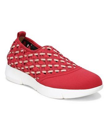 310fd759ee8 Red   White Woven Fallan Slip-On Sneaker - Women · Dark Sand Valeres Suede  Loafer ...