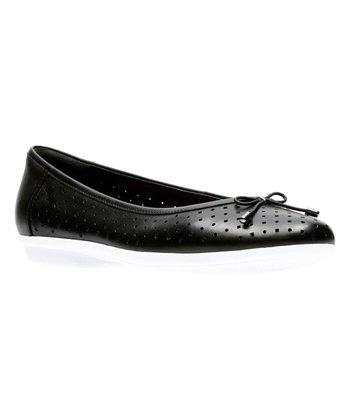 564741676a766c Black Gracelin Lea Leather Flat - Women