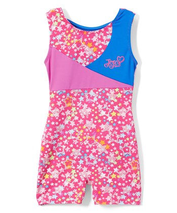cbac6e31b JoJo Siwa Pink & Blue Star Biketard - Girls