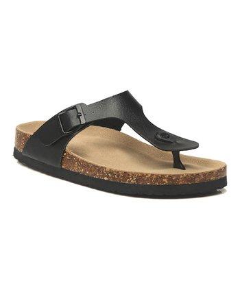 48ad437034a Black T-Strap Sandal - Women