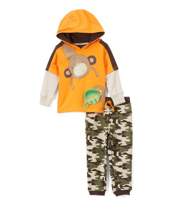 b3cf8e6d0 Orange & Camo Going Bananas Pant Set - Infant