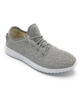 36f349104a751 Gray Abstract Easy Sneaker - Women