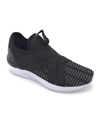 18f478b40ba58 Black   White Crisscross Easy Sneaker - Women