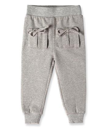 df7a90788 Heather Gray Mini Aubrey Tie Pocket Sweatpants - Infant. Ice Cycle Teagan  Organic Cotton Pants - Girls