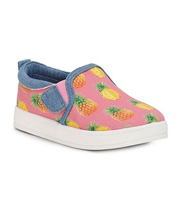 571b8394fd73 Pink   Medium Blue Unso Slip-On Sneaker - Girls