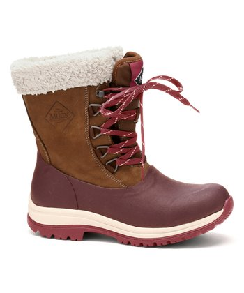 7dfef8a5f3a15 Red Arctic Leather Lace-Up Boot - Women