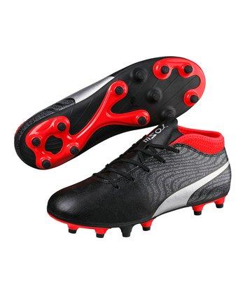 dc9daa250f341d Black & Silver One 18.4 FG JR Soccer Shoe - Kids