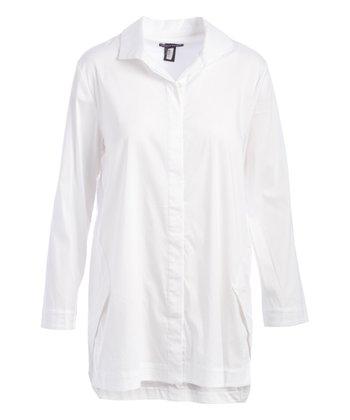 a1f90940a266 White Button-Up - Women