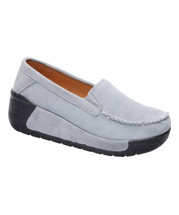 a709479601c Light Blue Heel   Toe Leather Loafer - Women
