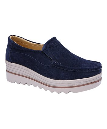 b499ea9bb7d Navy   White Suede Loafer - Women