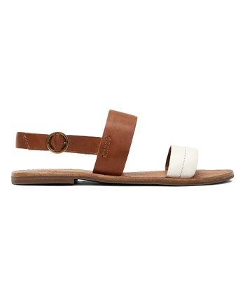 fce7ea8f280 White   Tan Ally Two-Band Leather Slingback Sandal - Women