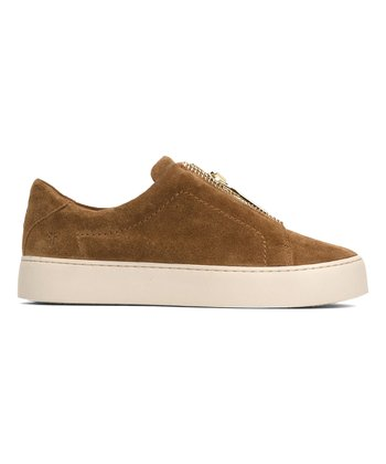 f2ce657e202d Tan Lena Zip Low Suede Sneaker - Women