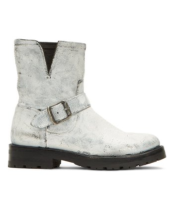 88148126a7 White Natalie Short Engineer Lug Leather Boot - Women