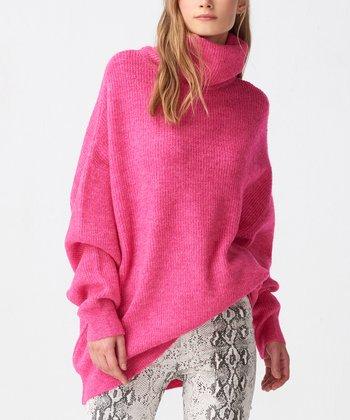 3d6a286550d09 Fuchsia Turtleneck Sweater - Women