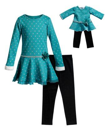 """Dollie /& me sz 2-14 and 18/"""" doll matching outfit dress american girl"""