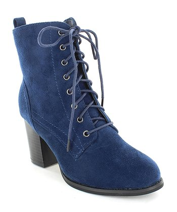 6b895d62bbca Navy Lace-Up Dahlia Ankle Boot - Women