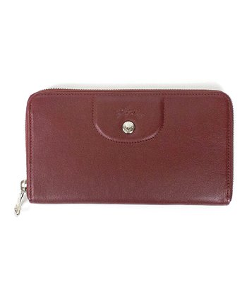 20102bdde854a Red Lacquer Le Pliage Cuir Zip-Around Leather Wallet