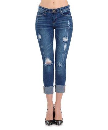 ebfd02d69cc Medium Wash Push-Up Crop Skinny Jeans - Women   Juniors