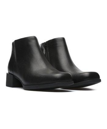 4b923ffd63ba8 Black Kobo Square-Toe Leather Bootie - Women