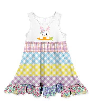 4d54cd83a6933 Black Floral Tankini - Girls · White   Yellow Plaid-Stripe Carrot Rabbit  Ruffle-Hem Sleeveless Dress - Toddler