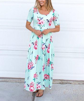 5d85c22d4e6 Mint Floral Maxi Dress - Women