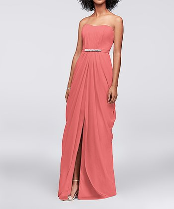 3a9fd714f1 ... David s Bridal 3 results. Horizon Mesh Cowl Back Faux Wrap Dress - Women  · Coral Reef Front-Pleat Chiffon Strapless Dress - Women