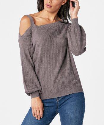 0495fd5683ab3b Plum Kitten One-Shoulder Sweater - Women