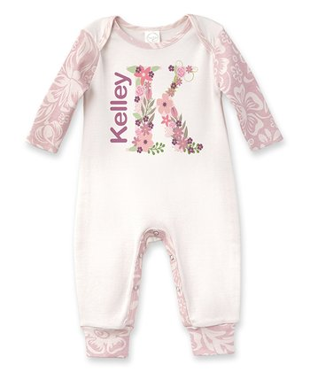 64f2bf27a Ivory & Pink Floral Bouquet Personalized Playsuit - Newborn & Infant