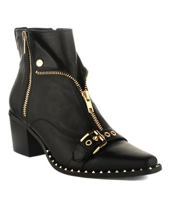 75371c44ec2 Black Moto Ankle Boot - Women