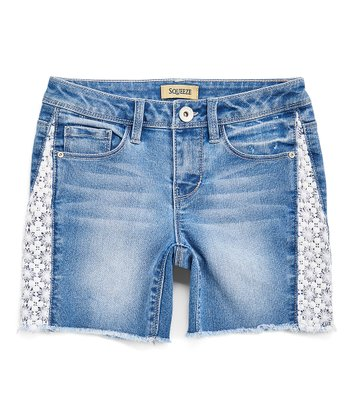 d5494eeb4 Lumina Wash Side-Crochet Shorts - Girls