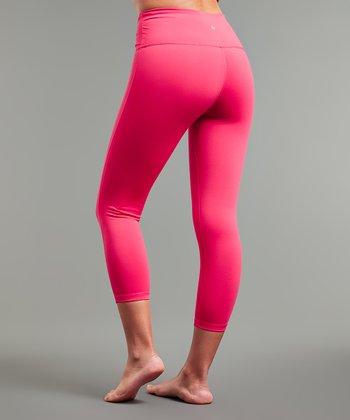 b1f6413d194028 Pink Paradise Compression Activewear Capri Leggings - Women