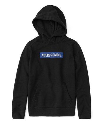 a0bac5800537 Black   Blue Core Logo Hoodie - Boys
