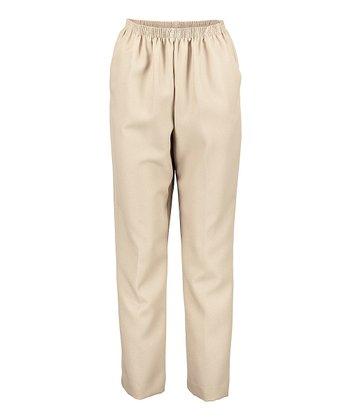 fcfa5e4ae69 Tan Classics All-Around Elastic Pull-On Short Pants - Petite