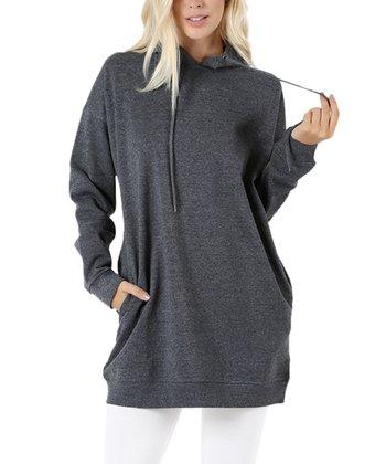 Medium Gray Oversize Hoodie - Women be9c30ed2