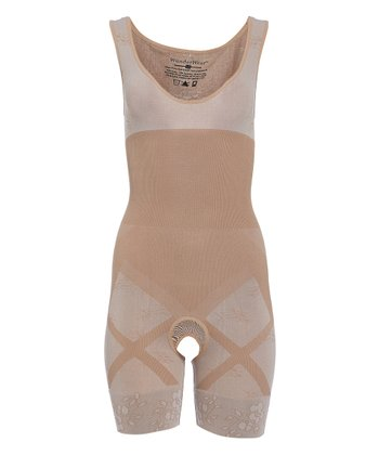 e75caa693c69a Nude Two-Tone Seamless Full-Body Long-Leg Shaper - Women