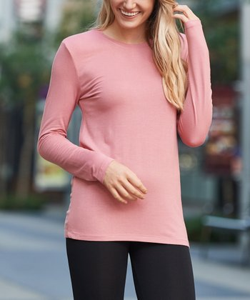 20a99522bc Dusty Rose Long-Sleeve Tee - Women   Plus