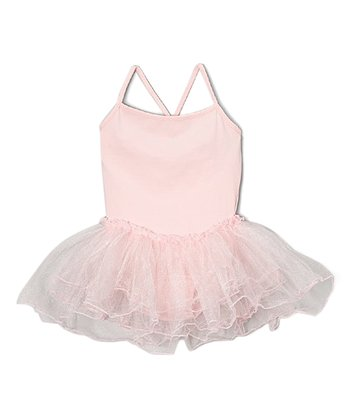 9143f25d2d0 Pink Cross-Back Skirted Leotard - Toddler & Girls