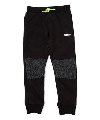 a9023a252 Black Knee-Panel Sweatpants - Boys. Black & Red Heat Hoodie ...