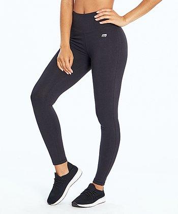 48aef7eaf4760 Black Camille Tummy-Control Mid-Rise Leggings - Women