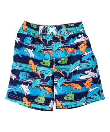 68f64d6c0d Navy Shark Swim Trunks - Toddler