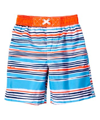 5fc726dd39 Orange Stripe Swim Trunks - Infant & Toddler
