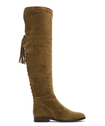 320c4184bca Cashew Tina Tassel Lace Suede Over-the-Knee Boot - Women