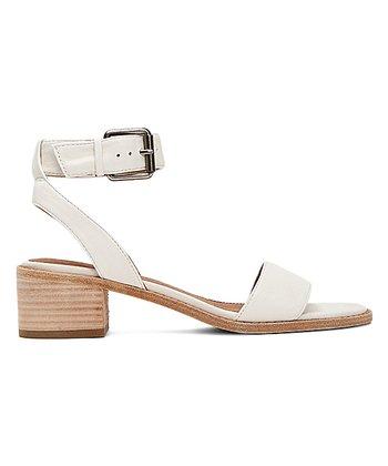 814b4eb4562 White Cindy Two-Piece Leather Sandal - Women